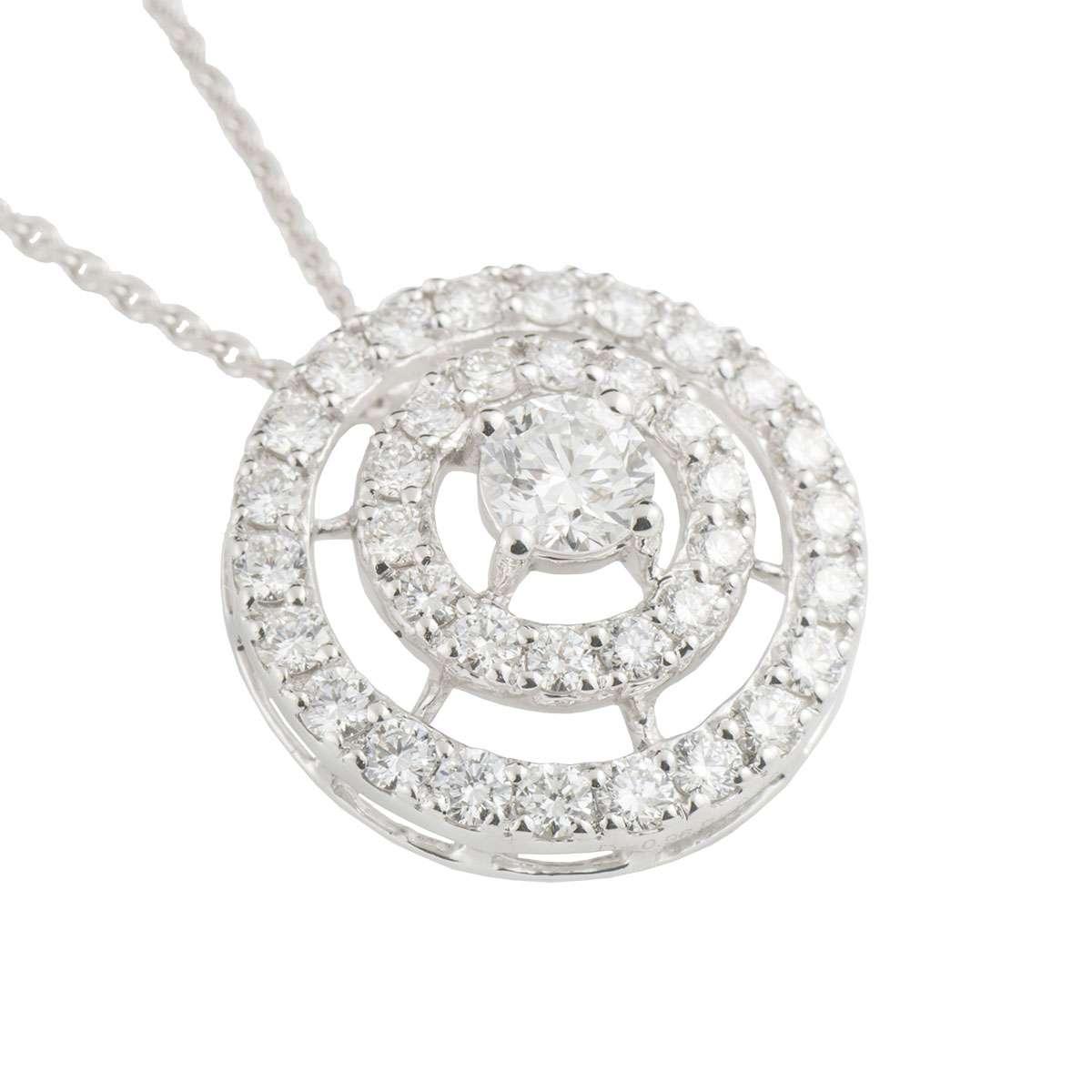 White Gold Diamond Double Halo Pendant